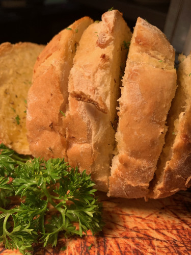 Baked Garlic and Herb Bread